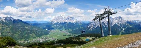 Grubigstein, Άλπεις, Αυστρία, Tirol - κεντρικές Άλπεις κατά μήκος των γερμανικός-αυστριακών συνόρων στοκ φωτογραφία με δικαίωμα ελεύθερης χρήσης