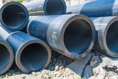 Grubościenne wodne drymby wielkiej średnicy PVC fotografia stock