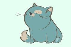 Gruby błękitnego kota sen Obrazy Stock