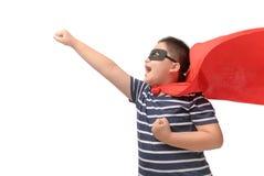 Gruby dzieci bawią się bohater odizolowywający obraz stock