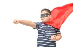 Gruby dzieci bawią się bohater odizolowywający obraz royalty free