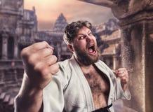 Gruby karate wojownik Zdjęcie Stock