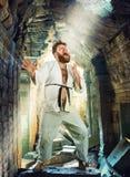 Gruby karate wojownik Zdjęcia Stock