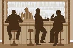 Gruby mężczyzna bar Fotografia Royalty Free