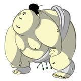 gruby sumo Ilustracji