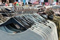 Grucce per vestiti Fotografia Stock Libera da Diritti