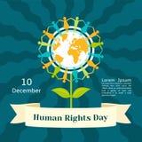 Grudni prawa człowieka dnia pojęcia tło, mieszkanie styl royalty ilustracja