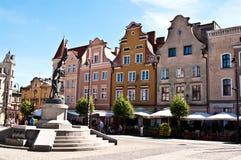 grudziadz波兰 主要城市广场 免版税库存照片