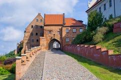 Grudziadz,波兰老墙壁  免版税库存图片