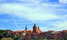 Άποψη της πόλης Grudziadz, Πολωνία Στοκ Εικόνες