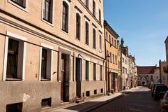 Grudziadz city centre street. A street in the centre of Grudziadz (Poland) old town Royalty Free Stock Photo