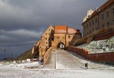 Grudziadz en el invierno Foto de archivo libre de regalías