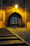 Grudziadz en la noche Fotos de archivo libres de regalías