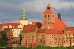 Grudziadz granaries. And city hall in Poland Royalty Free Stock Image