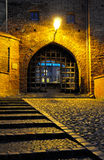 Grudziadz at night. Water gate (Brama Wodna) in Grudziadz city at night, Poland Royalty Free Stock Photos