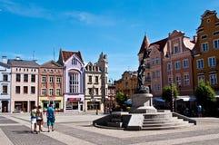 grudziadz poland Huvudsaklig stadsfyrkant Arkivfoto