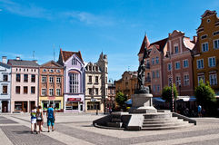 Grudziadz, Polen Hoofdstadsvierkant Stock Foto