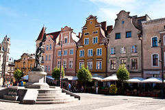 Grudziadz, Polonia Cuadrado de ciudad principal Foto de archivo libre de regalías