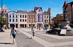Grudziadz, Polonia Quadrato di città principale Immagini Stock Libere da Diritti