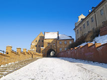 Grudziadz przy zimą Fotografia Royalty Free