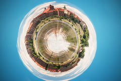 Grudziadz sphere. A line of granaries at Vistula river. Poland Stock Images