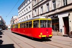 Grudziadz spårvagn Fotografering för Bildbyråer