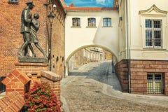 Grudziadz-Straße Lizenzfreie Stockbilder