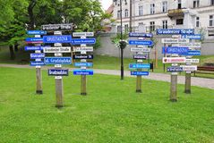 Grudziadz street names, Poland Royalty Free Stock Image