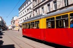 Grudziadz tramwaj Zdjęcia Stock