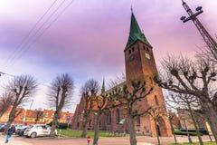 Grudzień 03, 2016: Kościół w Helsingor, Dani Zdjęcia Stock