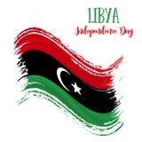 24 Grudzień; Libia dnia niepodległości tło ilustracji