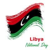 24 Grudzień; Libia dnia niepodległości tło royalty ilustracja