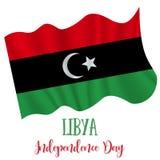 24 Grudzień; Libia dnia niepodległości tło ilustracja wektor