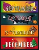 grudzień Listopad Październik Wrzesień ilustracji