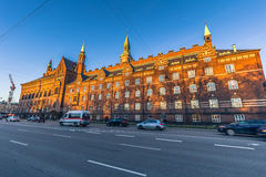 Grudzień 02, 2016: Sideview urząd miasta Kopenhaga, Denm Zdjęcia Royalty Free