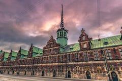 Grudzień 05, 2016: Stara giełda papierów wartościowych Kopenhaga, Dani Obraz Stock