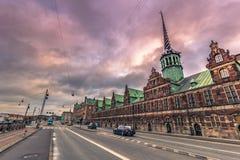 Grudzień 05, 2016: Stara giełda papierów wartościowych Kopenhaga, Dani Zdjęcie Stock