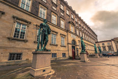 Grudzień 05, 2016: Statuy przy Bertel Thorvaldsens kwadratem wewnątrz Podołają Obrazy Royalty Free