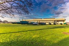 Grudzień 04, 2016: Wejście Viking statku muzeum Roskild Obrazy Royalty Free