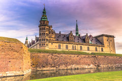 Grudzień 03, 2016: Fasada Kronborg kasztel, Dani Obrazy Royalty Free