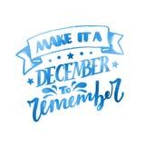 Grudzień Inspiracyjna wycena Typografia dla kalendarza, plakat, zaproszenie, kartka z pozdrowieniami lub t koszula, Wektorowy lit Obraz Stock