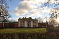 Grudzień w Peter i Paul fortecy w St Petersburg, Rosja Obraz Royalty Free