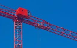 Grue à tour et cabine de contrôle de gestionnaires Image stock