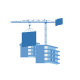 Grue au chantier de construction Images stock