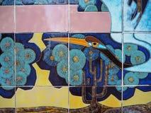 Grue chinoise dans une peinture murale dans le temple du soleil, Pékin, Chine images libres de droits