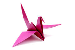 Grue d'Origami Photographie stock