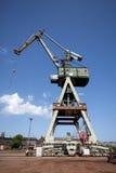 Grue dans le chantier naval de Danzig Image libre de droits