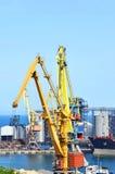 Grue de cargaison, bateau et dessiccateur de texture image libre de droits