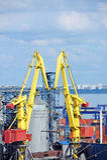 Grue de cargaison, bateau et dessiccateur de texture photos libres de droits
