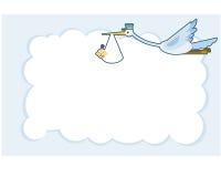 Grue de carte de voeux de fête de naissance Image libre de droits